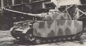Panzer IVh with side skirts and turret ring armour. The Pz. IV made up roughly half of a Panzer Regiment by 1944 although assault guns were sometimes substituted.