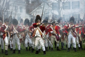British Grenadiers-a reenactment group at Lexington Green. http://mcnsclips.wordpress.com/2010/06/07/playing-the-redcoat/