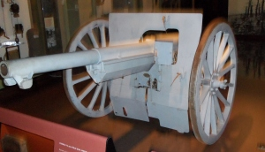 French 75mm gun. It was capable of 20 rounds a minute. This example is in the excellent WW1 museum in Kansas City, MO.