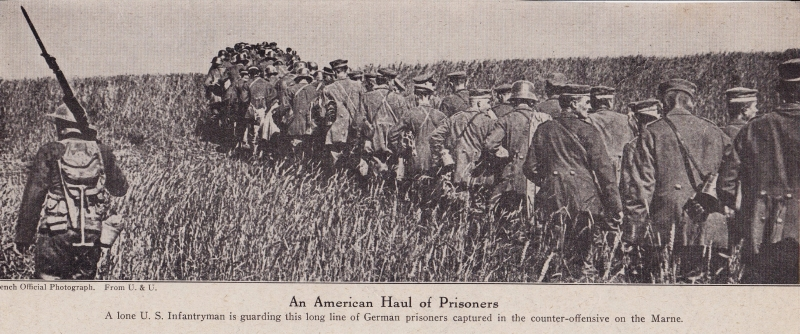 Americans with German prisoners