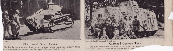 French and German tanks