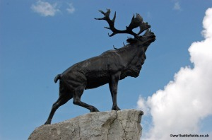 The Newfoundland Caribou monument is dedicated to the missing in action.