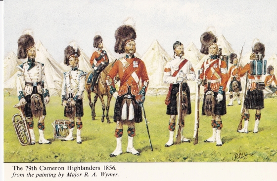 The 79th Cameron Highlanders. 1856 from the painting by Major, R. A. Wymer
