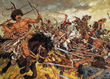 Hun Cavalry, Battle of Chalons, 451 AD http://www.theancientworld.net/civ/roman_empire_warfare.html