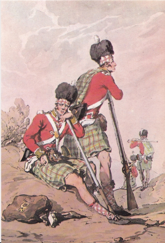 Highlanders, from a print by J. A. Atkinson, published by William Miller 1807