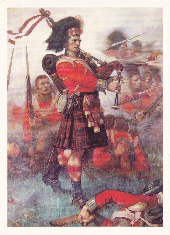 Piper Kenneth McKay, 79th Cameron Highlanders at Waterloo, by Lockhart Bogle.
