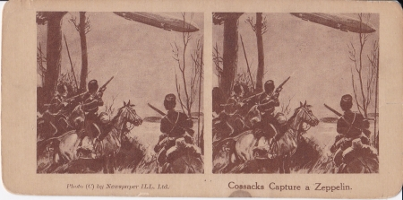 Russian Cossacks shooting down a German from Horseback.