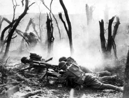 "June 26, 1918: U.S. Marines take Belleau Wood after 25 days of murderous fighting. ""Retreat, Hell! We just got here!"" http://ww1ha.wordpress.com/2012/03/01/ww1ha-annual-seminar-6/"