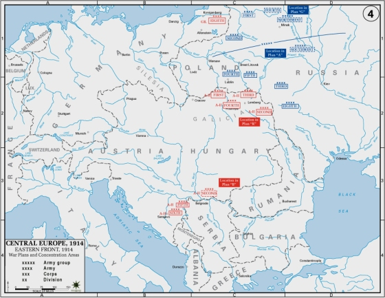 The huge scope of operations of the Eastern Front in WW1.http://simple.wikipedia.org/wiki/Eastern_Front_(World_War_I)