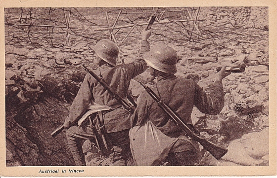 Austrians in the trenches 1916-18