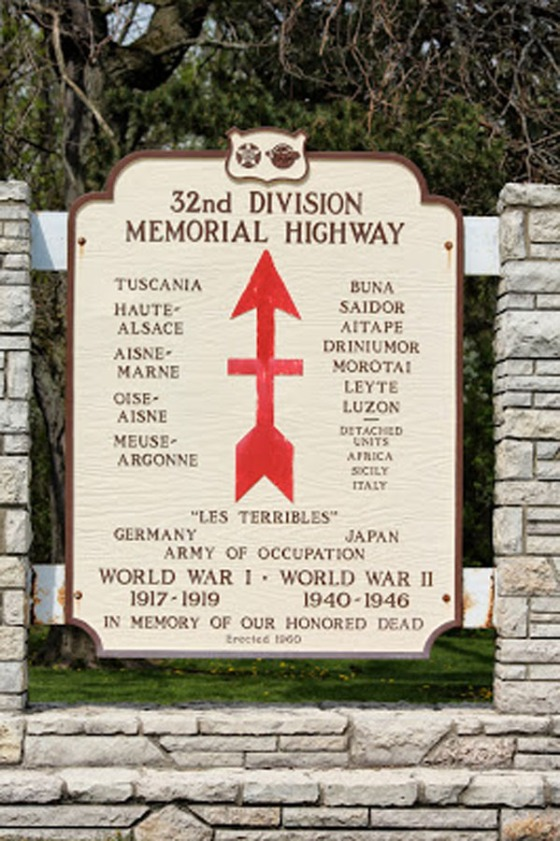 Monument to the 32nd Infantry Division in my area.
