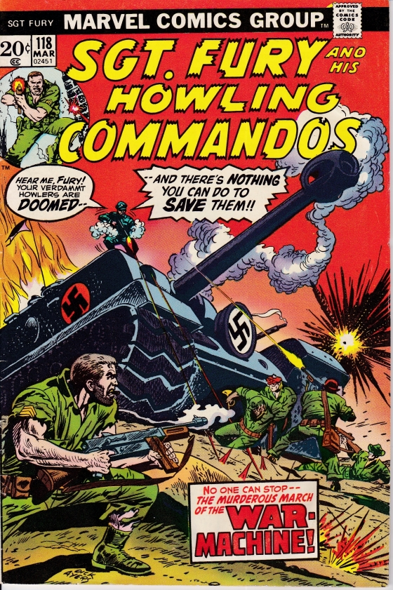 Sgt. Fury and his Howling Commandos, early 1970s.