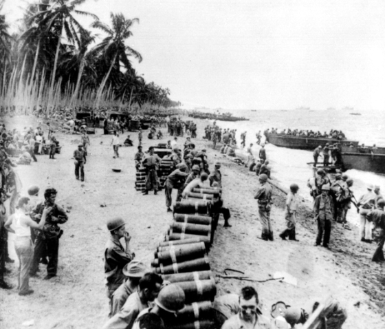 http://commons.wikimedia.org/wiki/File:US_Marines_leaving_Guadalcanal_in_February_1943.jpg
