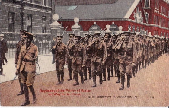 Regiment of the Prince of Wales on way to the Front
