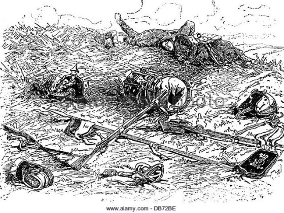 The killing power of repeating type rifles, machine guns and quick firing artillery made the Napoleonic tactics of 1815 impractical. It would take the bloodbath that was WW1 to fully change things.