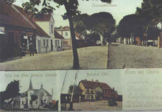"http://www.vfdgkuestrins.de/texts/kk-back.html The village in 1915. My dad told me that his uncles did not want to serve in WW1 because they did not want to fight their ""cousins."" Whether that was figurative or literal I do not know but I do know from Rob that the surname ""Roder"" is quite common in the region even today. Perhaps family legend has merit."