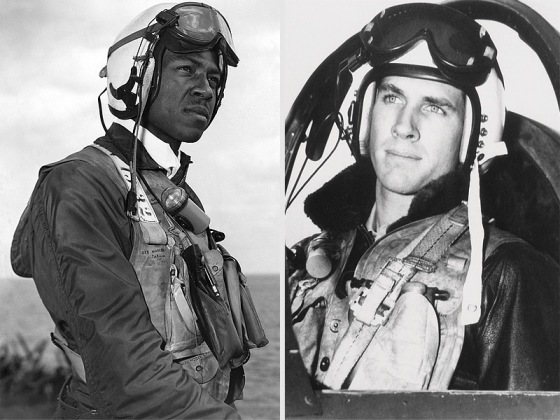 Jesse Brown and Tom Hudner, 1950 as F4 Corsair pilots, Korean War