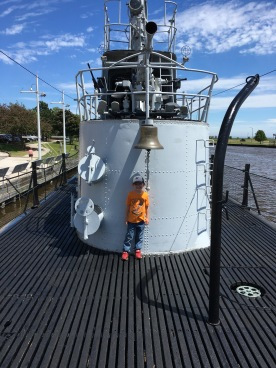 My grandson actually asked the tour guide a pretty good question for a six-year-old.